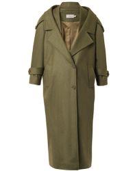 Preen Skylar Oversized Wool Coat - Lyst