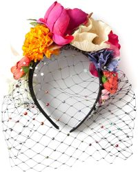Piers Atkinson - 'Frida' Veil And Flower Headband - Lyst