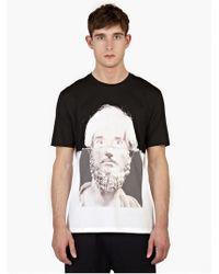 Neil Barrett Black Cotton Printed T-Shirt white - Lyst