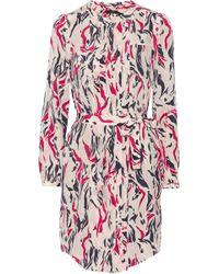 Isabel Marant Sage Printed Silk Crepe De Chine Shirt - Lyst