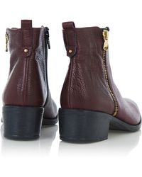 Oasis - Zip Side Ankle Boots - Lyst