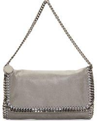 Stella McCartney Grey Shaggy Deer Small Falabella Bag - Lyst