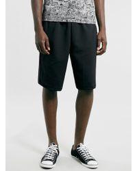 Topman Black Longer Length Shorts - Lyst