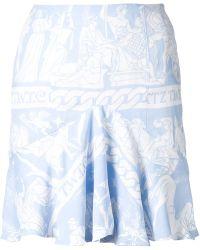 KTZ Frill Hem Printed Skirt - Lyst