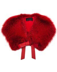 Elie Saab Fox-fur Wrap - Red