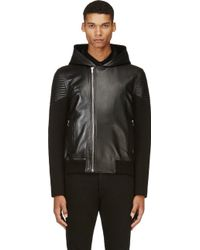 Givenchy Lambskin and Neoprene Jacket - Lyst