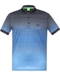 BOSS Green Regular-fit Cotton Polo Shirt: 'paddy 3' - Blue