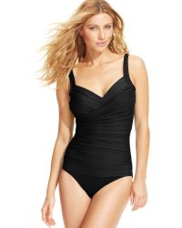 Miraclesuit Bella Ruched One-Piece Swimsuit - Lyst