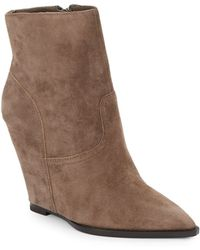 Ash Jasmin Suede Wedge Ankle Boots - Lyst