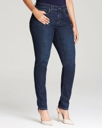 Eileen Fisher Plus Skinny Jeans In Washed Indigo - Lyst