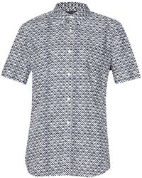 French Connection Simple Diamond Short Sleeve Shirt blue - Lyst