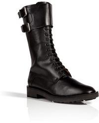 Robert Clergerie Leather Estar Combat Boots - Lyst
