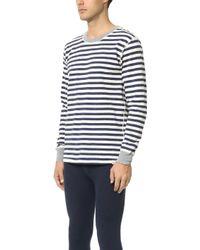 Sleepy Jones - Keith Rugby Stripe Thermal Shirt - Lyst