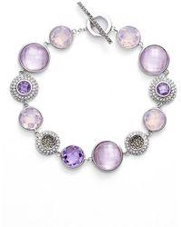 Judith Jack Bezel Jewel Line Bracelet - Purple Multi/ Silver
