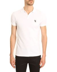 DSquared2 White Pique Polo - Lyst