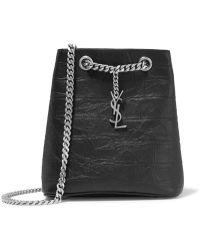 Saint Laurent - Emmanuelle Croc-effect Leather Shoulder Bag - Lyst