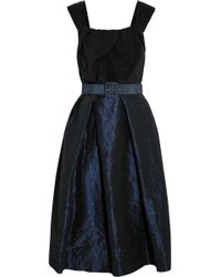 Vivienne Westwood Anglomania Moon Silk Crepe De Chine and Taffeta Dress - Lyst