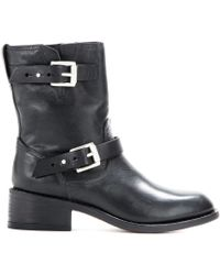 Rag & Bone Andover Leather Biker Boots - Lyst