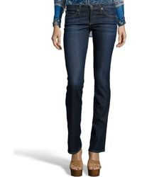 Ag Adriano Goldschmied Crest Blue Denim Slit Bootcut The Olivia Jeans - Lyst