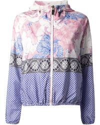 Pinko Blue Printed Jacket - Lyst