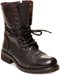 Steve Madden Troopa 2.0 Combat Boots brown - Lyst
