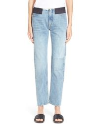 Aries - 'lilly' Contrast Pocket Jeans - Lyst