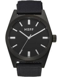 Neff - 'nightly' Round Watch - Lyst