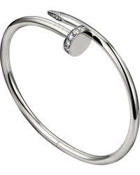 Cartier Juste Un Clou 18ct White Gold and Diamond Bracelet - Lyst