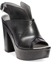 Kenneth Cole Reaction Women'S Best Coast Platform Sandals - Black