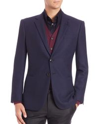 Giorgio Armani | Solid Wool Blazer | Lyst