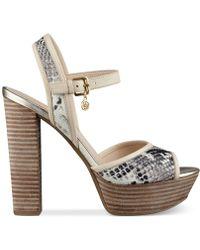 Guess Women'S Pursey Two-Piece Platform Sandals - Lyst
