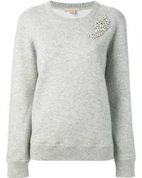 Michael Kors Brooch Sweater - Lyst