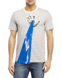 Drink Beer Save Water - Laser Hand Striped Tee - Lyst