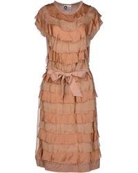 Lanvin Knee-Length Dress beige - Lyst