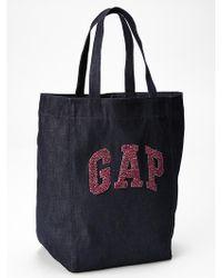 Gap Logo Denim Tote - Lyst