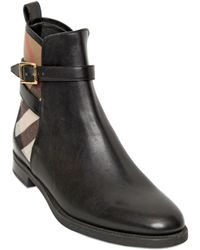 Burberry 20mm Richardson Leather Ankle Boots - Lyst