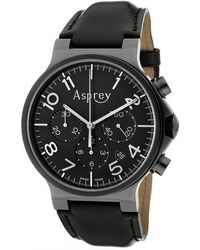 Asprey - No8 Mens Black Dial Black Pvd Coated Case Automatic Chronometer Watch with Chronograph Date Asprey Watch - Lyst