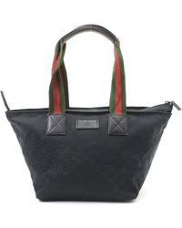 Gucci Gg Canvas Tote Bag black - Lyst