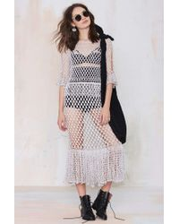 Nasty Gal Vintage Gia Crochet Knit Dress - Lyst