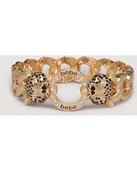 Bebe Logo Panther Head Bracelet - Lyst