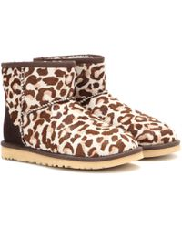Ugg Classic Mini Calf Hair Boots animal - Lyst