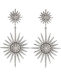 Bochic Fancy Starburst Diamond Earrings - White