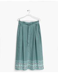 Mango Flowy Printed Skirt blue - Lyst