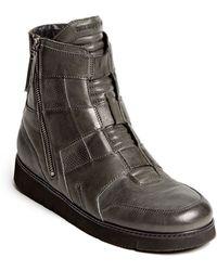 Helmut Lang High Top Zip Sneaker - Lyst