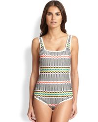 Missoni Mare One-Piece Greek Key Swimsuit - Lyst