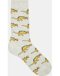 Urban Eccentric Dinosaur Socks - White
