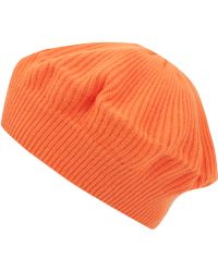 CASH CA - Orange Milled Cashmere Beret - Lyst