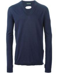 Damir Doma V-Neck Sweater - Lyst