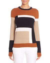 Michael Kors | Colorblock Intarsia Cashmere Sweater | Lyst