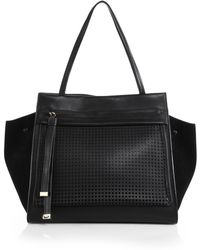 Furla Exclusively For Saks Fifth Avenue Equestre Leather & Suede Medium Tote - Lyst